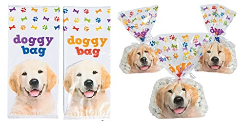 36 pc - Doggy Bag Cellophane Bags Dog Party Bags