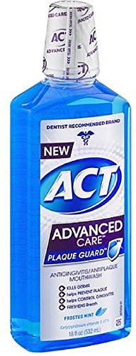 ACT Advanced Care Plaque Guard Mouthwash, Frosted Mint 18...