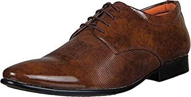 Shozie Men's Patent Leather Formal Shoes + Party Wear Formal Shoes
