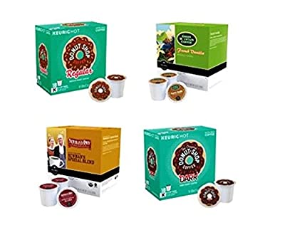 Green Mountain Coffee® Variety Pack 144 CT K-Cup® Pods Original Donut Shop® Regular, Green Mountain Coffee® French Vanilla, Newman's Own Organics® Special Blend and Original Donut Shop® Dark