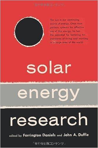 Solar Energy Research by Farrington Daniels (2010-10-16)