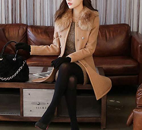 Mujeres Suéter Larga Color Abrigo Caliente Trench Ropa Invierno De Tops Lana Outwear Camel Chaquetas Mantener Parka Moda Otoño Rompevientos Manga Casual Coat Jacket Rq5pw
