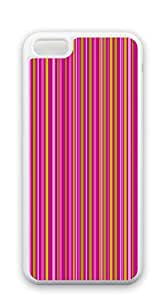 TUTU158600 Design Hard Skin Case Cover Shell for Mobilephone iphone 5c case for girls cute - Brown zigzag stripes