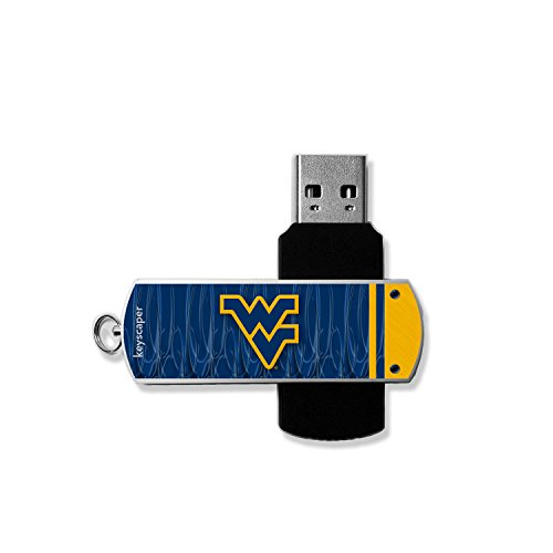 West Virginia Mountaineers 8GB USB Flash Drive officially licensed by West Virginia University Twist Aluminum Cover Universal by (Stores In West Virginia)