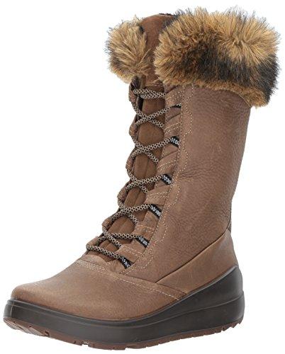 ECCO Women's Noyce Tall Snow Boot Birch/Coffee 40 EU / 9-9.5