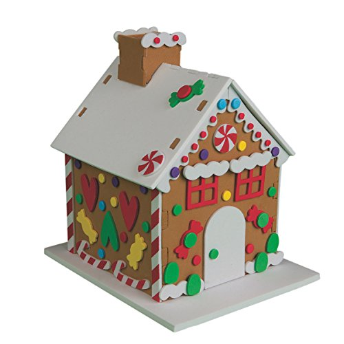 S&S Worldwide Foam Gingerbread Houses Craft Kit (makes 12) ()