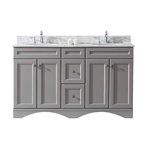 Virtu USA ED-25060-WMRO-GR-NM Talisa Bathroom Vanity 60 inches Cool Gray