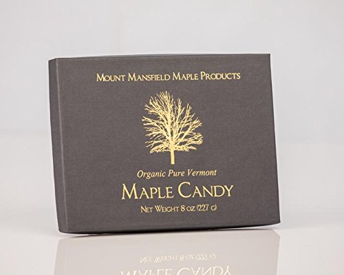 Mansfield Maple- Half Pound (8oz) Certified Organic Pure Vermont Maple Sugar Candy (24 -