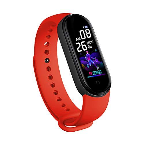unknow M5 Smart Horloge Mannen Vrouwen Hartslagmeter Bloeddruk Fitness Tracker Door A-LAOWENG