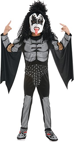 [Child KISS Rocker Costume - The Demon Large] (Tv Commercial Costumes Halloween)