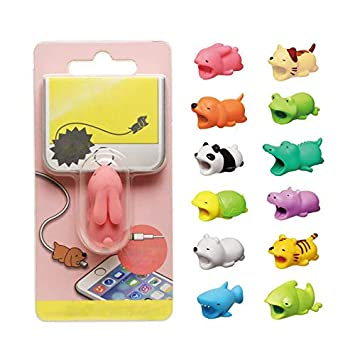 jingyuu 1 Pcs Animal Cable Tidy Clips Cute Data Line Protection PVC Cable Desk Management Clips for Home Office Desk Smooth Surface Water Lazy
