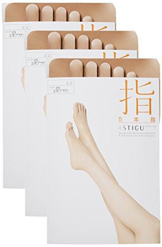 ATSUGI 아츠기 스타킹ASTIGU (아스티구) [손가락] 5 개의 손가락 발가락 스타킹 3 켤레 세트