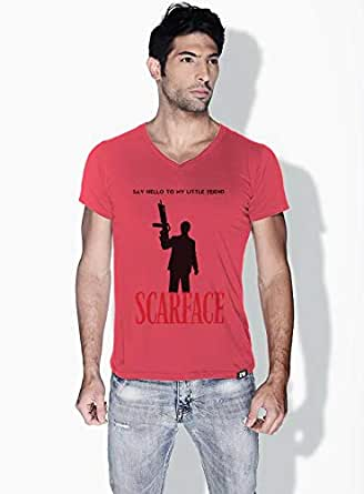 Creo Scarface Movie Posters T-Shirts For Men - S, Pink
