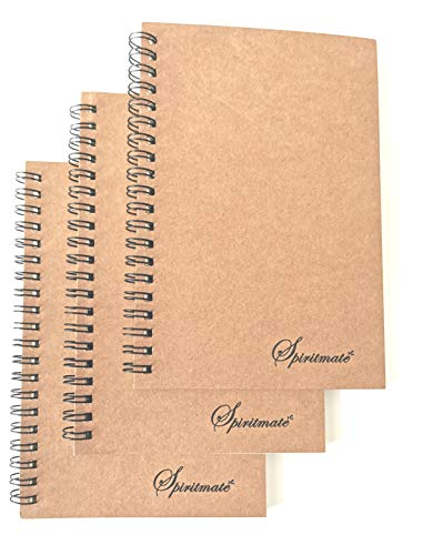 Spiritmate Small Wirebound Notebooks 4.7x7inch 480g Thick Cardboard Cover, 100g Thicken Ivory Paper Dot/Graph/Lined/Blank, 50 Sheets Per Each Spiral Note Pad Bullet Journals (Graph Grid-3Pack)