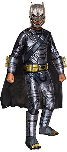 UHC Boy's Armored Batman Theme Outfit Party Kids Halloweem Costume, S (4-6) (Batman Villains Costumes)