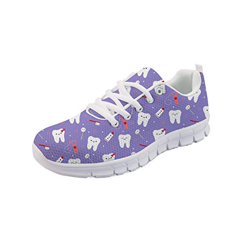 Sport Sneaker Tooth Shoes Showudesigns Up Printing Women Galaxy Fashion Lace Running txqpF7cwpY