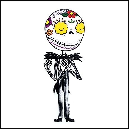 Skull Jack - Jack Skellington Calavera Die Cut Clear Vinyl Sticker Sugar Skull - Day of the Dead - Weather Proof Decal