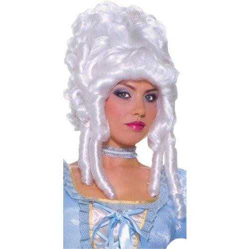 Wig Marie Antoinette Platinum (Forum Novelties Women's Deluxe Marie Antoinette Wig, White, One Size)