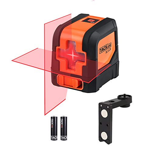 Tacklife SC-L01-50 Feet Laser Level Self-Leveling Horizontal and Vertical Cross-Line