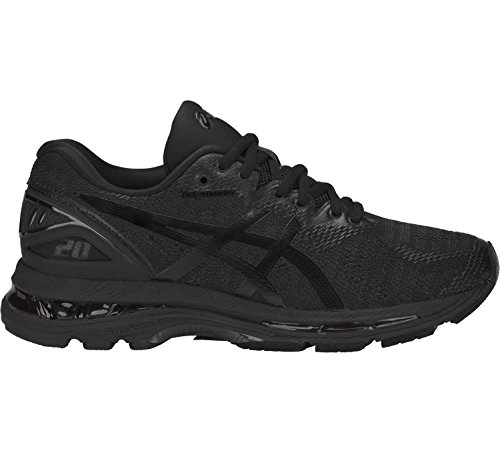 ASICS Women's Gel-Nimbus 20 Running Shoe, black/black/carbon, 8.5 Medium US