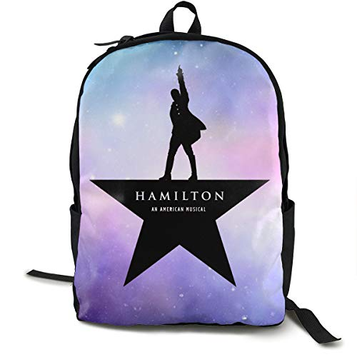 LILISALA Canvas Backpack,Musicals Hamilton American Musical Casual Laptop Satchel Bookbags School Bag Daypack for Travel,Hiking,Camping,Outdoor