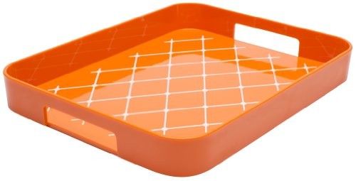 Zak! Designs Half Gallery Tray with Non-skid Detail on Tray Surface, Easy to Hold Handles, BPA-free Plastic, , 13