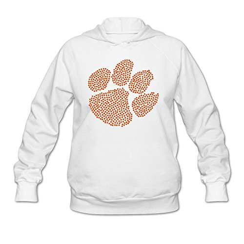 Clemson Tigers Sunshade (Women's Clemson College Tigers Paw Hoodies White 100% Cotton)