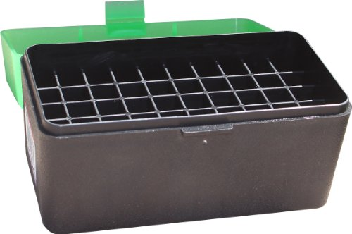 MTM 50 Round Flip-Top Rifle Ammo Box Large Mag (Clear Green/Black) (Best Round For 300 Win Mag)