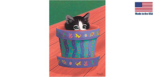 Qty Kitty - THASC Blank Note Card Potted Kitty_QTY_36
