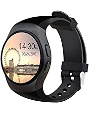 KingWear KW18 Smart Watch Bluetooth with SIM Card Silicone Band for iOS Android - Black