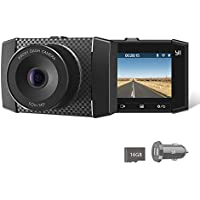 YI 2.7K Ultra Dash Cam with 2.7 LCD Screen, 140° Wide Angle Lens, Dual-Core Processor, Voice Control, MEMS 3-axis G-Sensor, and Night Vision (Micro SD Card and Car Charger Included)