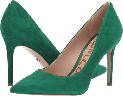 Sam Edelman Women's Hazel Spring Green Kid Suede Leather 6 W US - Green Leather Pumps