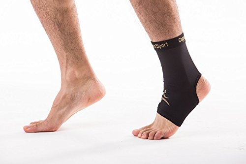 CopperSport Copper Compression Ankle Sleeve Support – Suitable for Athletics, Tennis, Golf, Basketball, Sports activities, Weightlifting, Joint Pain Aid, Injury Recovery (Single Sleeve) – DiZiSports Store