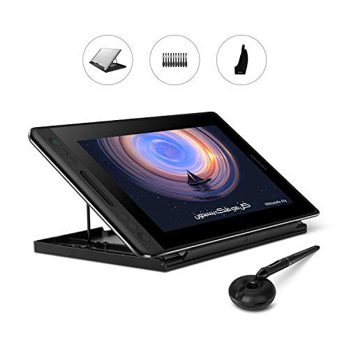 Huion Kamvas Pro 12 Drawing Tablet with Full Laminated Screen Digital Graphics Pen Display Monitor with Battery-Free Stylus 8192 Pressure Sensitivity Tilt 4 Express Keys Touch Bar-11.6inch with Stand