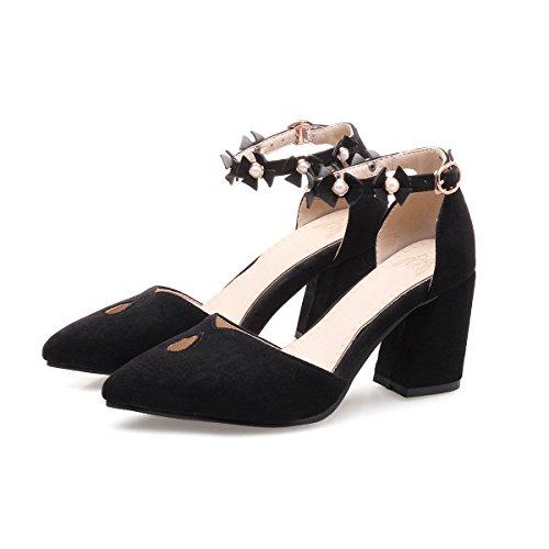 Black Bloc Chaussures Talons Bouche Peu de Profonde Femmes QIN Chaussures CXQ amp;X Ptxp4wgq4Z