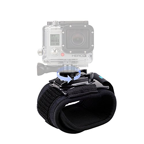 CISNO 360 Degree Rotatable Camera Accessories Wrist Strap Band Holder Cycling Mount for GoPro Hero 1 2 3 3+ 4 5/6 Session