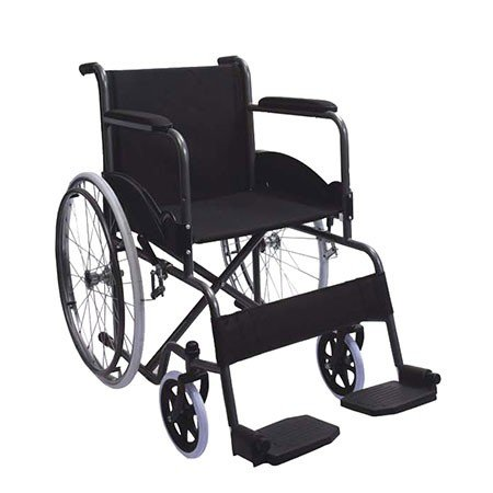 Silla de ruedas | Plegable | Rueda grande | Ligera | Negro ...