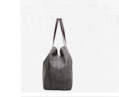 Canvas Lady's Bag Grigio Grigio Gwqgz Casual B8Eqdwq0z