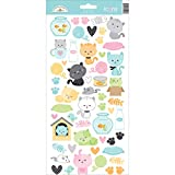 DOODLEBUG Kitten Smitten Cardstock Stickers