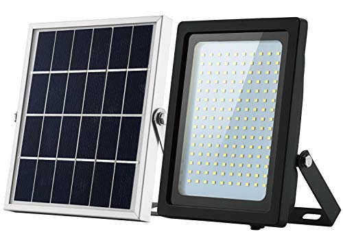 Solar Floodlight Outdoor 150 LED IP65 Waterproof with Sensor Auto On Off for Dusk to Dawn Pathway Entry and Driveway by GEN Solar