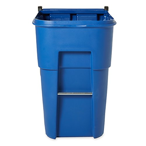 rubbermaid commercial brute roll out trash can with lid