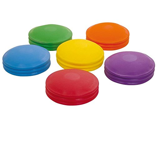 Exercise & Fitness Balance Pad Set Of 6 Assorted Colour by Sportsgear US