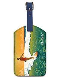 Vintage Leatherette Luggage Tag Travel Accessory Baggage Label - The Duke by Charles W. Bartlett