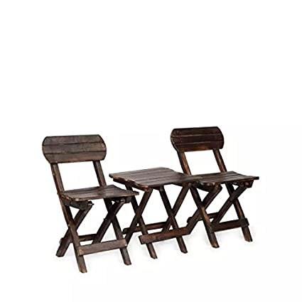 Onlineshoppee Coffee Table Set (Brown, Set of 3)