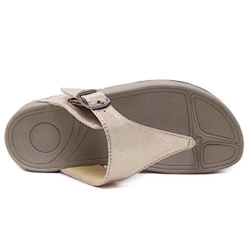 Flip Womens Anti Flop Flats Buckle Slip Golden Sandal Thong Shoes Fashion Btrada dZ6qwnBIw