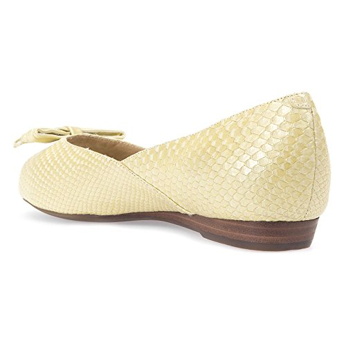 Ballet Spunatato Women's Light D Flat Geox Fragrance Yellow gxaaw
