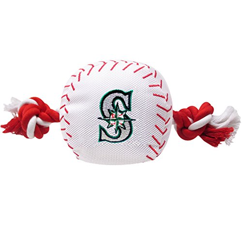 fan products of Pets First MLB Seattle Mariners Dog Nylon Baseball Rope Toy