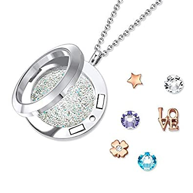 e03f61852 Mestige Lucky Love Dual Floating Charm Necklace with Swarovski® Crystals,  Gifts Women Girls