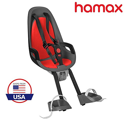 Hamax Observer Front Child Bike Seat (Grey/Red) by Hamax