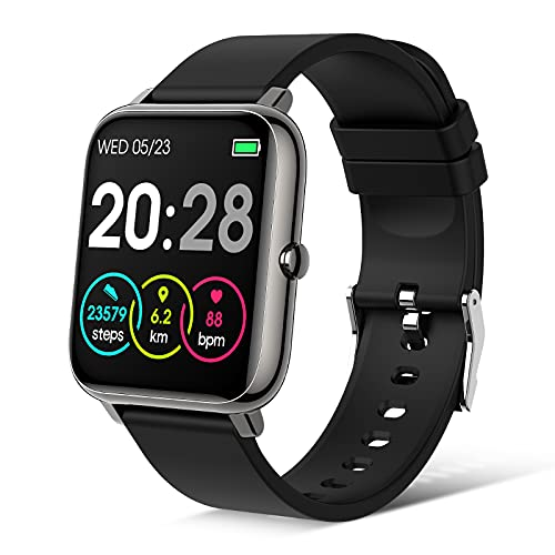 PIBO Smart Watch 2021 Ver. Watches for Android/iOS Phones,IP67 Waterproof Activity Tracker with 1.4 Inch Touch Screen, Pedometer Smartwatch with Heart Rate/Sleep Monitor, Fitness Watch for Men Women